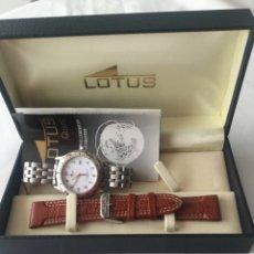 Relojes de carga manual: RELOJ LOTUS CABALLERO, CON CADENA Y CORREA DE REPUESTO TIPO DE CRISTAL DEL DIAL: CRISTAL MINERAL. Lote 175043197