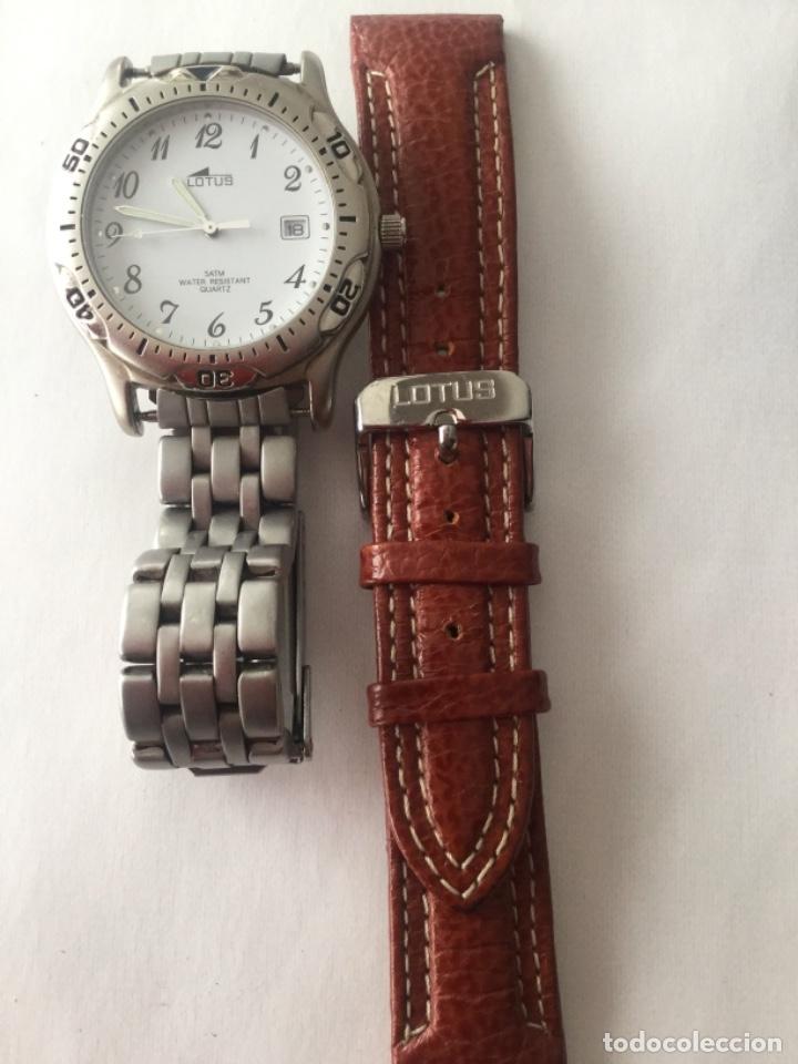 Relojes de carga manual: Reloj Lotus caballero, con cadena y correa de repuesto Tipo de cristal del dial: cristal mineral - Foto 2 - 175043197