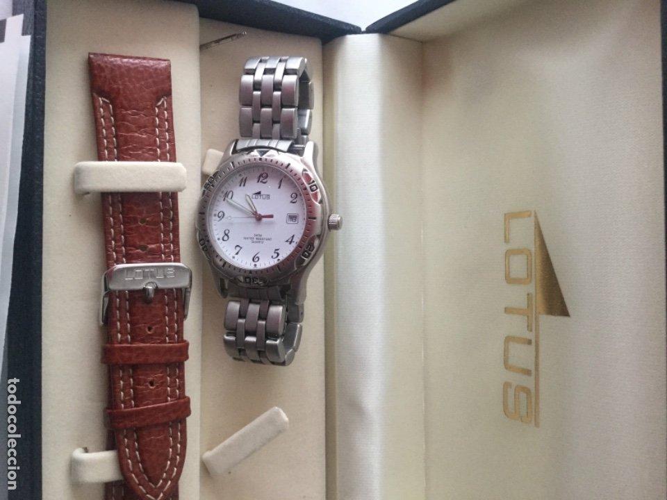 Relojes de carga manual: Reloj Lotus caballero, con cadena y correa de repuesto Tipo de cristal del dial: cristal mineral - Foto 7 - 175043197