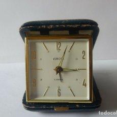 Relojes de carga manual: RELOJ DESPERTADOR EUROPA DE VIAJE, VINTAGE, FUNCIONANDO.. Lote 175504468