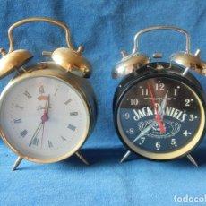 Relojes de carga manual: ANTIGUOS RELOJES DE SOBREMESA, FUNCIONANDO.. Lote 175507400