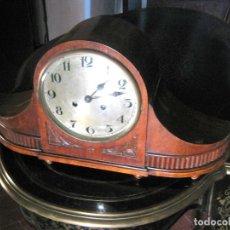 Relojes de carga manual: 60 CM - ESPECTACULAR RELOJ DE CHIMENEA ANTIGUO MADERA DE ROBLE BELLA SONERIA. FUNCIONANDO. Lote 175717425