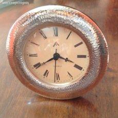 Relojes de carga manual: RELOJ DE PLATA DE 1A LEY. SOBREMESA. CUARZO. NUEVO. MÁS PLATA EN MI PERFIL.. Lote 176032802
