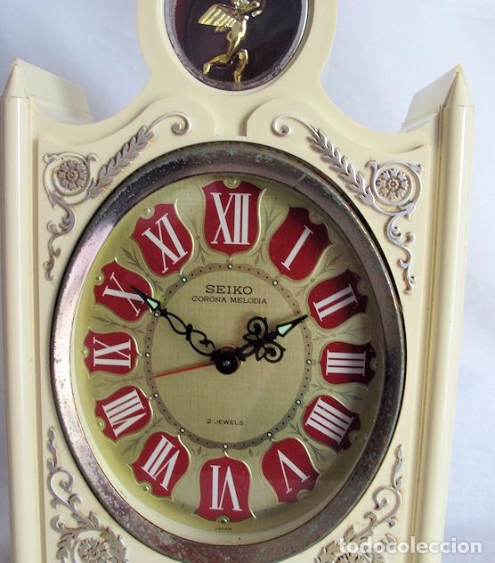 Relojes de carga manual: RELOJ SEIKO DE CUERDA VINTAGE GRANDE DE SOBREMESA MUSICAL - Foto 4 - 176344815