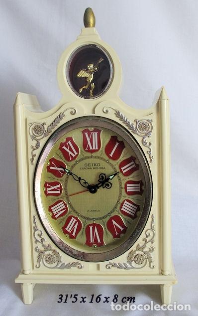 RELOJ SEIKO DE CUERDA VINTAGE GRANDE DE SOBREMESA MUSICAL (Relojes - Sobremesa Carga Manual)
