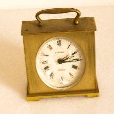 Relojes de carga manual: RELOJ DESPERTADOR DE SOBREMESA EUROPA - 2 JEWELS. Lote 176445759