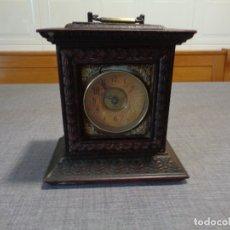 Relojes de carga manual: RELOJ DESPERTADOR MADERA SIGLO XIX. Lote 176567652