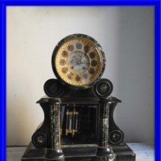 Relojes de carga manual: RELOJ DE MARMOL NAPOLEON III TIPO NOTARIO CON PENDULO DE MERCURIO. Lote 177204909