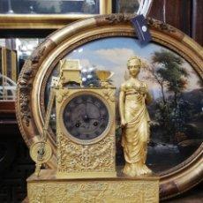 Relojes de carga manual: RELOJ BRONCE DORADO XIX. Lote 177332915