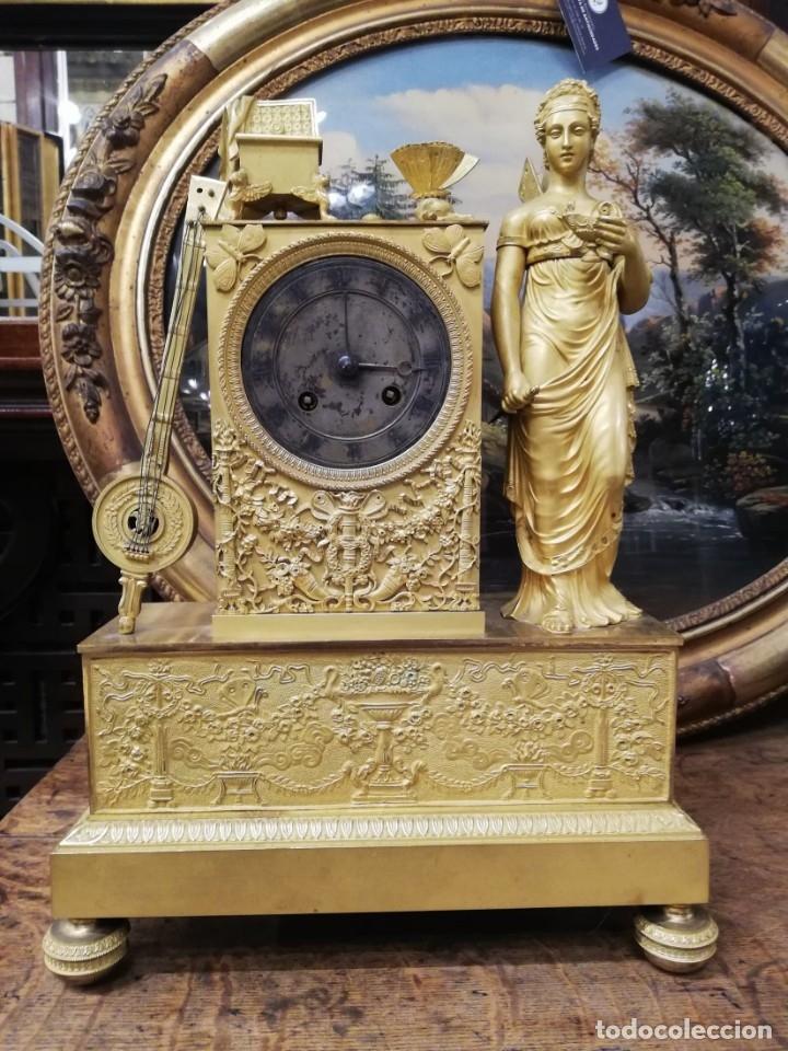 Relojes de carga manual: RELOJ BRONCE DORADO XIX - Foto 2 - 177332915