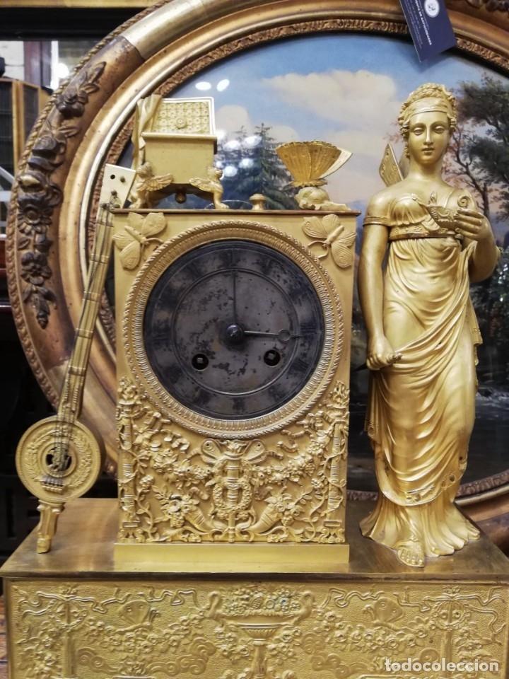Relojes de carga manual: RELOJ BRONCE DORADO XIX - Foto 4 - 177332915