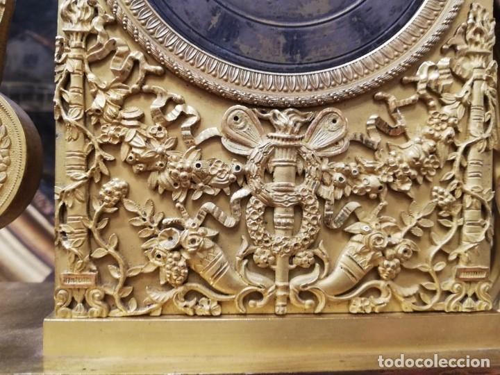 Relojes de carga manual: RELOJ BRONCE DORADO XIX - Foto 6 - 177332915