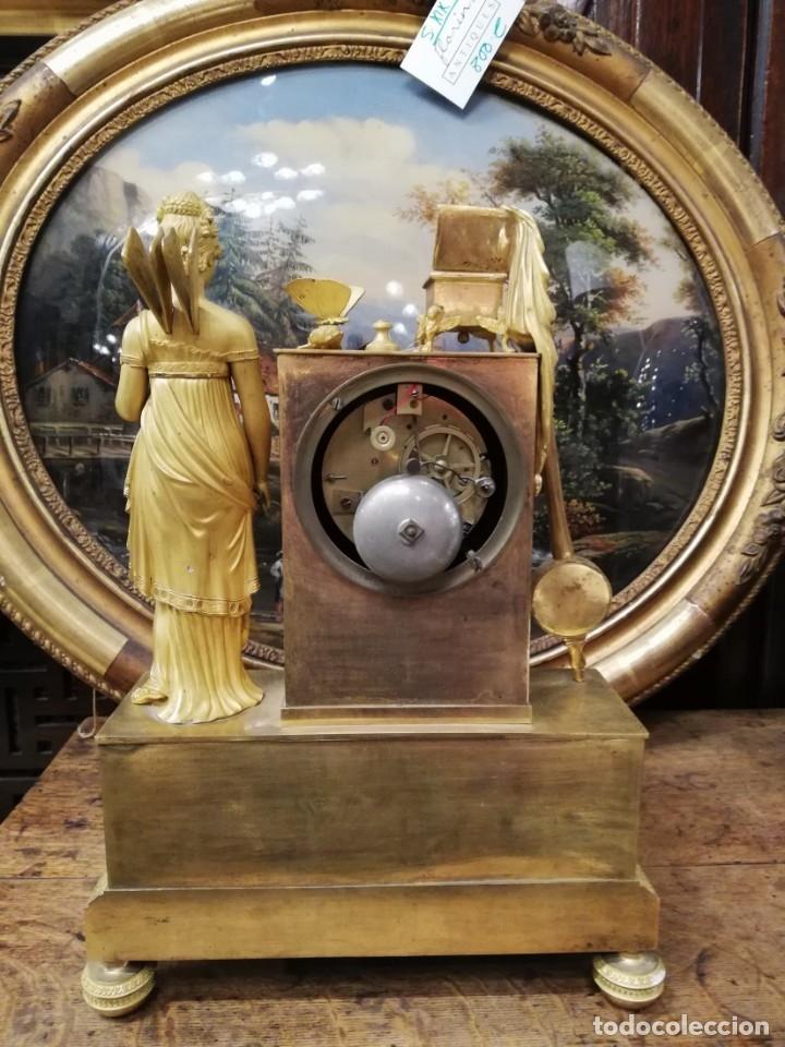 Relojes de carga manual: RELOJ BRONCE DORADO XIX - Foto 8 - 177332915