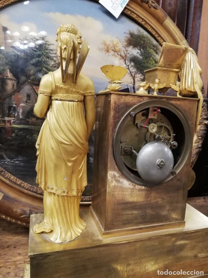 Relojes de carga manual: RELOJ BRONCE DORADO XIX - Foto 10 - 177332915