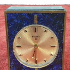 Relojes de carga manual: RELOJ DE SOBREMESA. SWIZA. 8 DIAS DE CUERDA. SUIZA. CIRCA 1960.. Lote 178173090