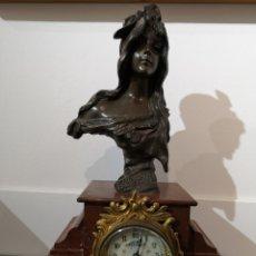 Relojes de carga manual: EXCEPCIONAL RELOJ DE MARMOL Y BRONCE.. Lote 178296248