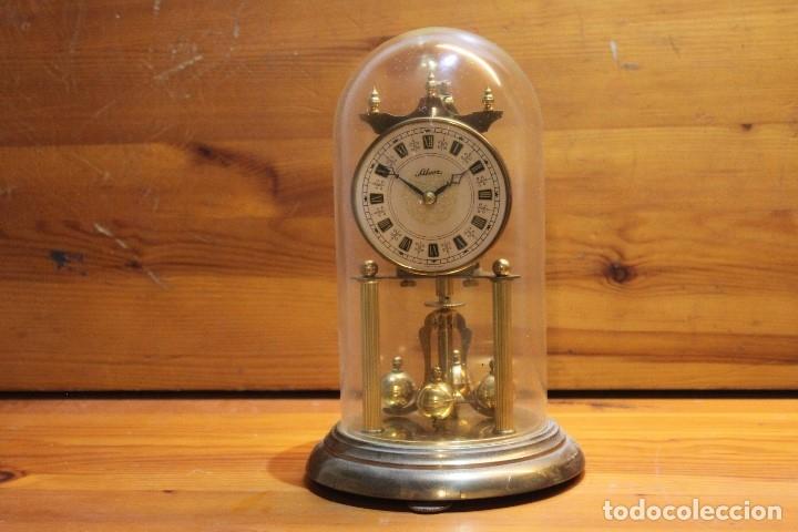 RELOJ SOBREMESA SILVOZ DE COPULA CRISTAL COMPLETO MADE IN GERMANY (Relojes - Sobremesa Carga Manual)