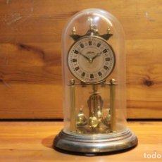 Relojes de carga manual: RELOJ SOBREMESA SILVOZ DE COPULA CRISTAL COMPLETO MADE IN GERMANY. Lote 178789558