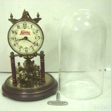 Relojes de carga manual: PRESIOSO RELOJ-KOMA MADE IN GERMANY+CRISTAL+LLAVE- CUERDA PENDULO TORSION 400 HRS UNIVERSAL. Lote 178904097