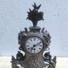 Relojes de carga manual: ANTIGUO RELOJ DE SOBREMESA CON ESFERA DE PORCELANA Y BASE DE MARMOL CON MAQUINARIA MADE IN GERMANY. Lote 179027293