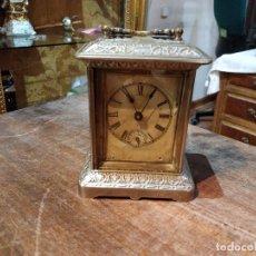 Relojes de carga manual: RELOJ ANSONIA DE CABECERO, CAJA DE METAL PLATEADO - DESPERTADOR, HORAS Y MEDIAS. Lote 179138746
