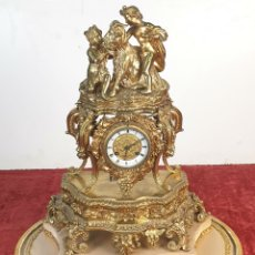 Relojes de carga manual: RELOJ DE REPISA. BRONCE DORADO. ESTILO ROCOCÓ. LEROY AND FILS. SIGLO XIX.. Lote 179143332