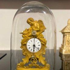 Horloges à remontage manuel: RELOJ DE SOBREMESA DEL S. XIX , BRONCE AL MERCURIO , MINIATURA , ORMOLU MINIATURE CLOCK , AVERIADO. Lote 179143535