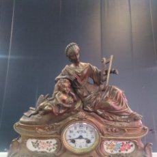 Relojes de carga manual: RELOJ DE BRONCE FRANCÉS SÍGLO XIX CARGA MANUAL, PRECIOSO. Lote 179216922