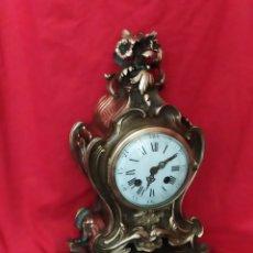 Relojes de carga manual: ANTIGUO RELOJ FRANCÉS LUIS XV BRONCE SIGLO XIX. Lote 179326286