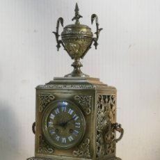 Relojes de carga manual: ANTIGUO Y MUY DETALLADO RELOJ FRANCÉS LUIS XVI BRONCE SIGLO XIX. Lote 179333287