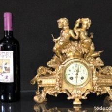 Relojes de carga manual: RELOJ DE SOBREMESA EN BRONCE DORADO. FRANCIA SIGLO XIX. Lote 179336238