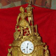 Relojes de carga manual: EXCELENTE RELOJ DE SOBREMESA PARIS, EN BRONCE DORADO AL MERCURIO, DEL SIGLO XIX. Lote 221866195