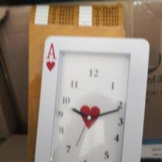 Relojes de carga manual: RELOJ FORMA DE CARTA POKER AS DE CORAZONES . Lote 180070678