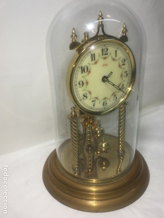 Relojes de carga manual: Reloj de sobremesa con su fanal Original - Foto 4 - 180097963