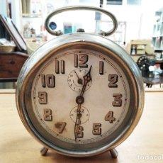 Relojes de carga manual: RELOJ DESPERTADOR SOBREMESA CARGA MANUAL - JAZ. Lote 180448138