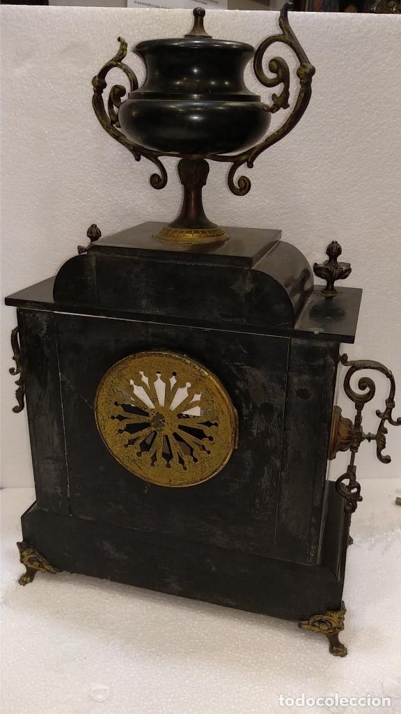 Relojes de carga manual: Reloj S.XIX francés- maquinaria París- mármol de dos colores - Foto 13 - 180855335
