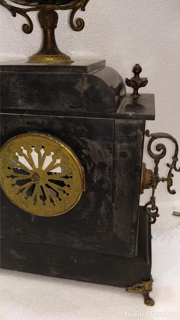 Relojes de carga manual: Reloj S.XIX francés- maquinaria París- mármol de dos colores - Foto 14 - 180855335
