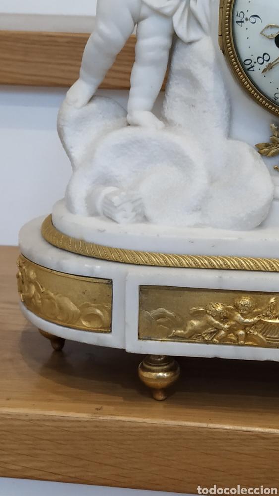 Relojes de carga manual: Reloj francés siglo xviii. Reloj antiguo Gille Lainé. Reloj mármol antiguo. - Foto 2 - 181109073