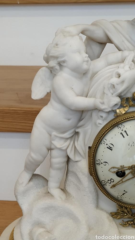 Relojes de carga manual: Reloj francés siglo xviii. Reloj antiguo Gille Lainé. Reloj mármol antiguo. - Foto 5 - 181109073