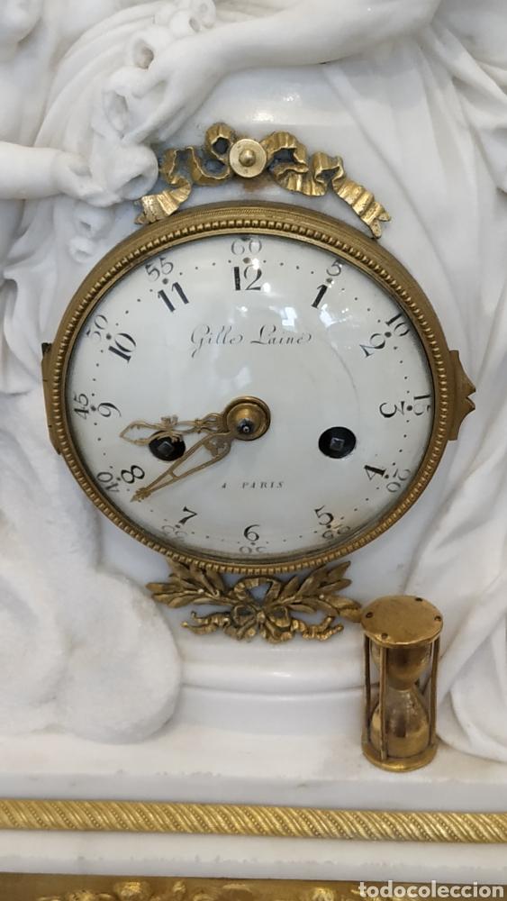 Relojes de carga manual: Reloj francés siglo xviii. Reloj antiguo Gille Lainé. Reloj mármol antiguo. - Foto 7 - 181109073