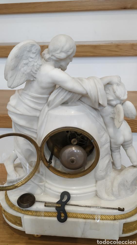 Relojes de carga manual: Reloj francés siglo xviii. Reloj antiguo Gille Lainé. Reloj mármol antiguo. - Foto 8 - 181109073