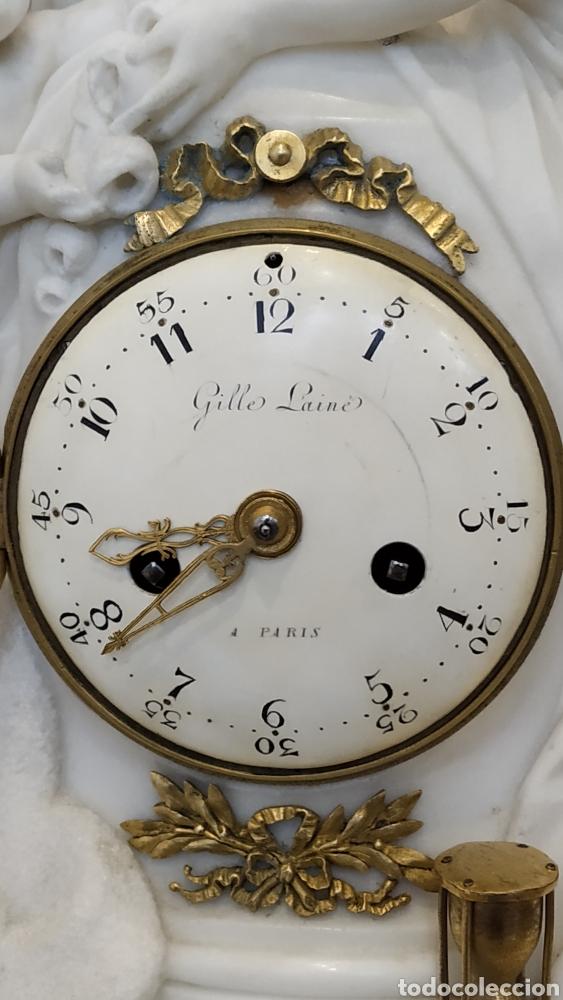 Relojes de carga manual: Reloj francés siglo xviii. Reloj antiguo Gille Lainé. Reloj mármol antiguo. - Foto 10 - 181109073