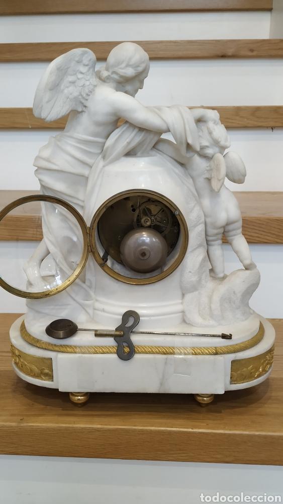 Relojes de carga manual: Reloj francés siglo xviii. Reloj antiguo Gille Lainé. Reloj mármol antiguo. - Foto 11 - 181109073