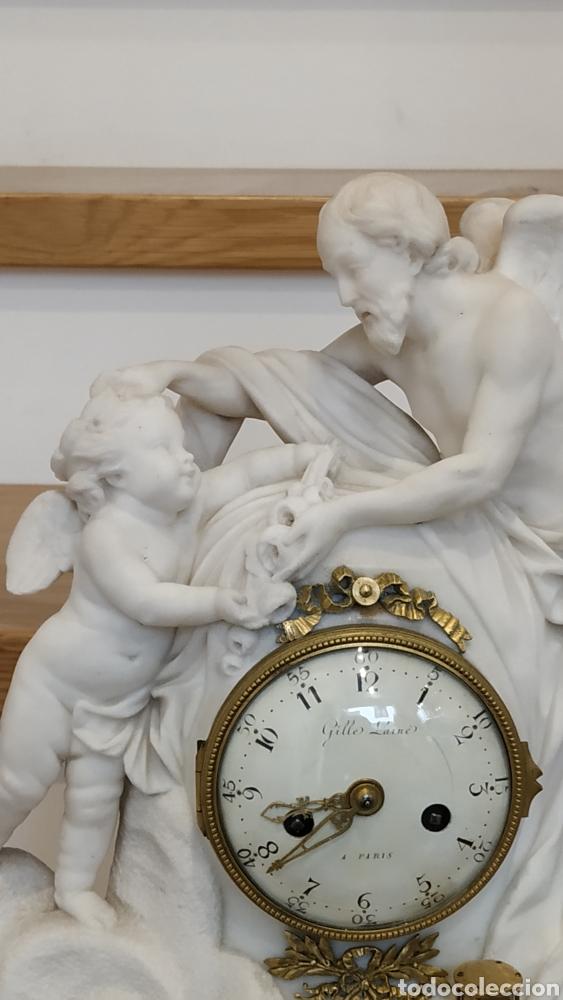 Relojes de carga manual: Reloj francés siglo xviii. Reloj antiguo Gille Lainé. Reloj mármol antiguo. - Foto 13 - 181109073