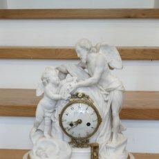 Relojes de carga manual: RELOJ FRANCÉS SIGLO XVIII. RELOJ ANTIGUO GILLE LAINÉ. RELOJ MÁRMOL ANTIGUO.. Lote 181109073