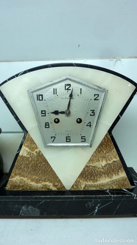 Relojes de carga manual: RELOJ MARMOL, METAL ART DECO - Foto 2 - 181401882
