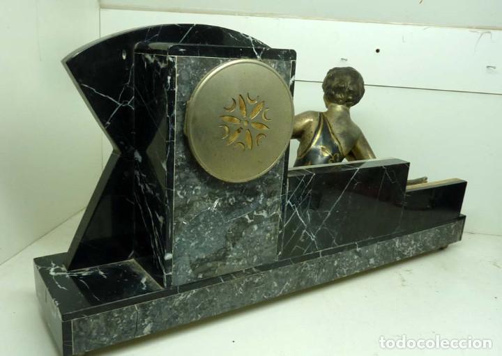 Relojes de carga manual: RELOJ MARMOL, METAL ART DECO - Foto 6 - 181401882