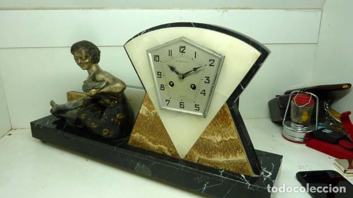 Relojes de carga manual: RELOJ MARMOL, METAL ART DECO - Foto 8 - 181401882