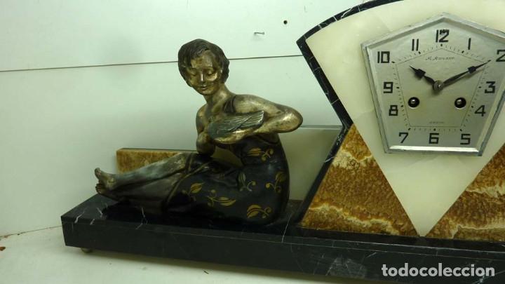 Relojes de carga manual: RELOJ MARMOL, METAL ART DECO - Foto 9 - 181401882