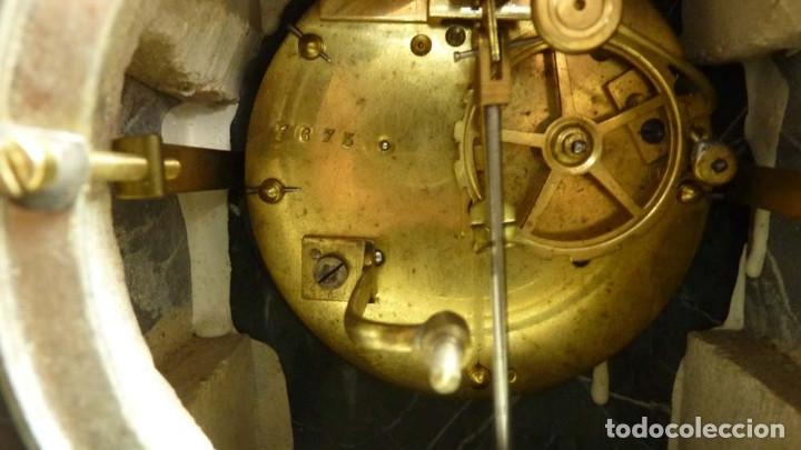 Relojes de carga manual: RELOJ MARMOL, METAL ART DECO - Foto 13 - 181401882